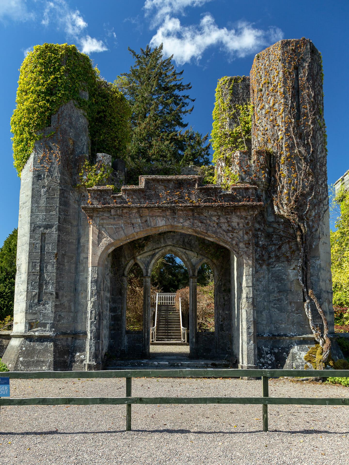 Torbogen: Der frühere Eingang zu Armadale Castle