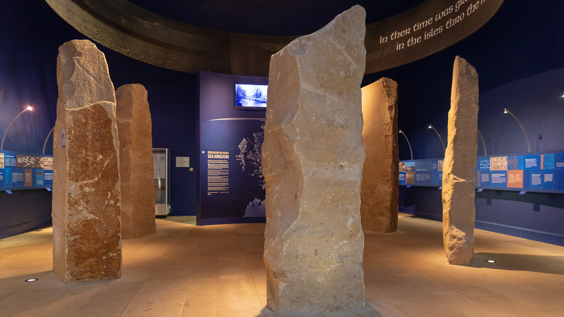 Standing Stones im Museum of the Isles