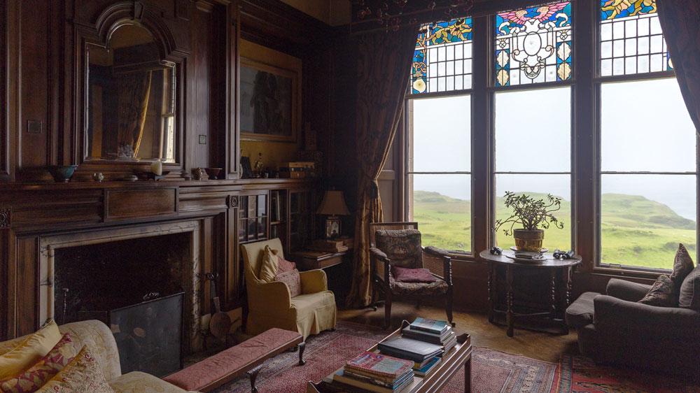 Glengorm Castle Bibliothek