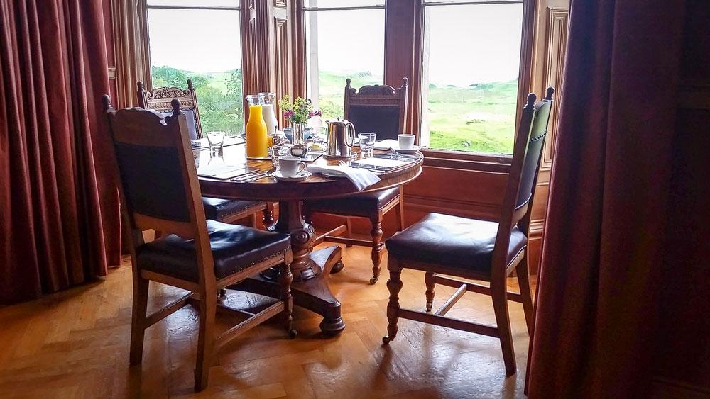 Frühstück auf Glengorm