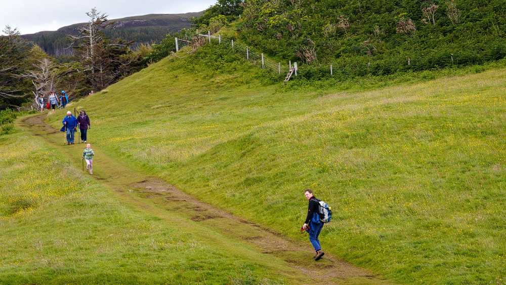 Wandern direkt bei Glengorm