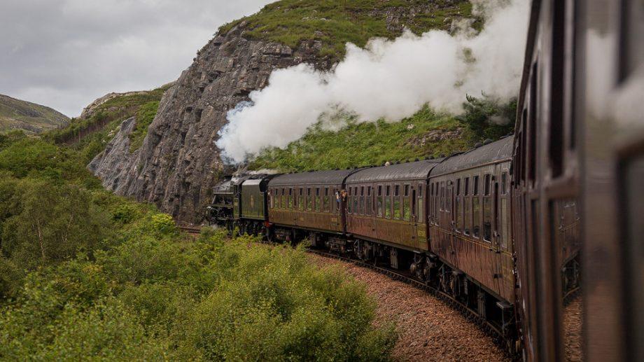 Jacobite Steam Train Landschaft