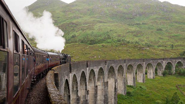 Auf dem Glenfinnan Viaduct