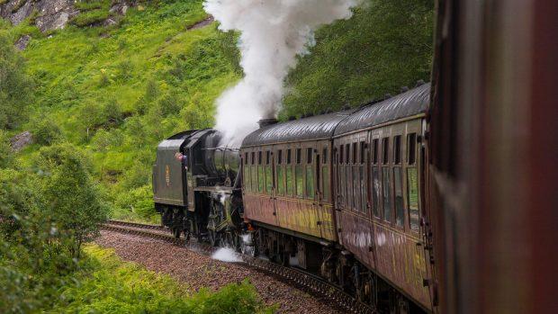 Jacobite Steam Train auf der Rückfahrt