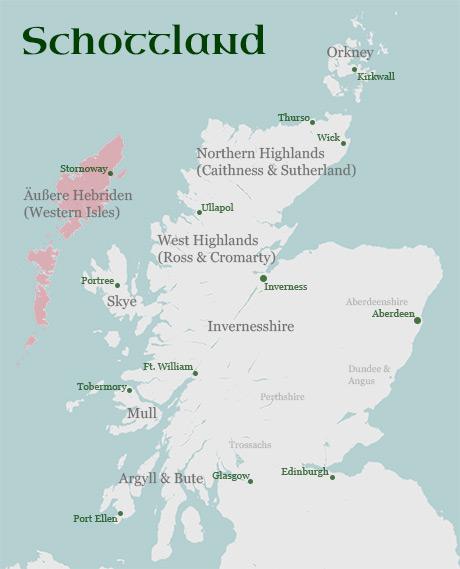 Karte Regionen Äußere Hebriden