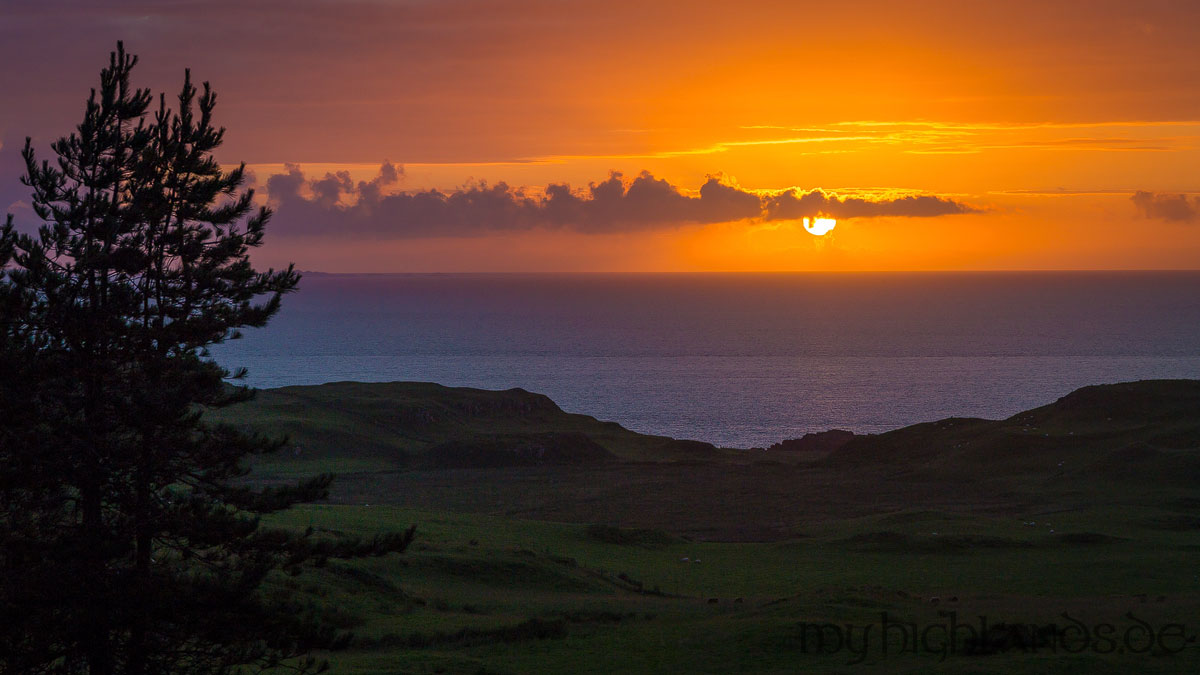 Sonnenuntergang auf Mull