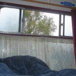 Blick aus dem Bett im Glenfinnan Sleeping Car