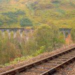 Glenfinnan Viadukt oben Schienen