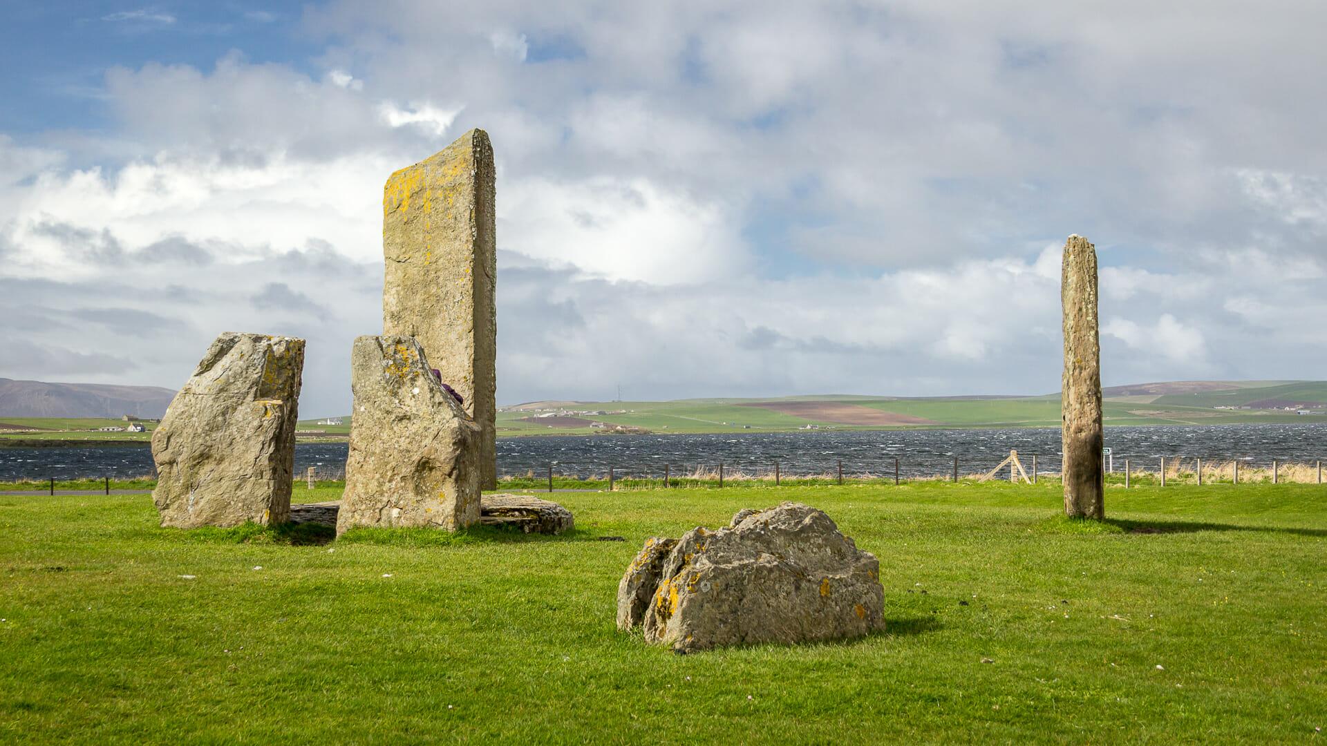 Standing Stones of Stennes aus der Nähe
