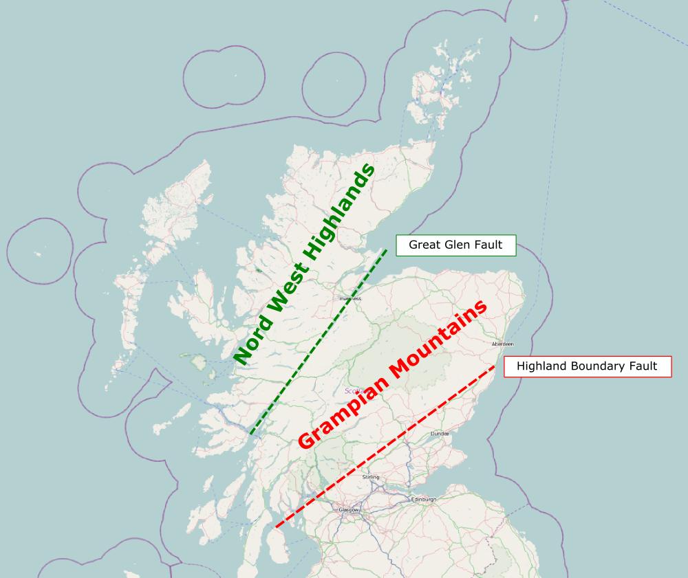 Highlands geologische Einteilung