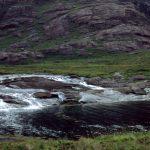 River Scavaig Wasserfall