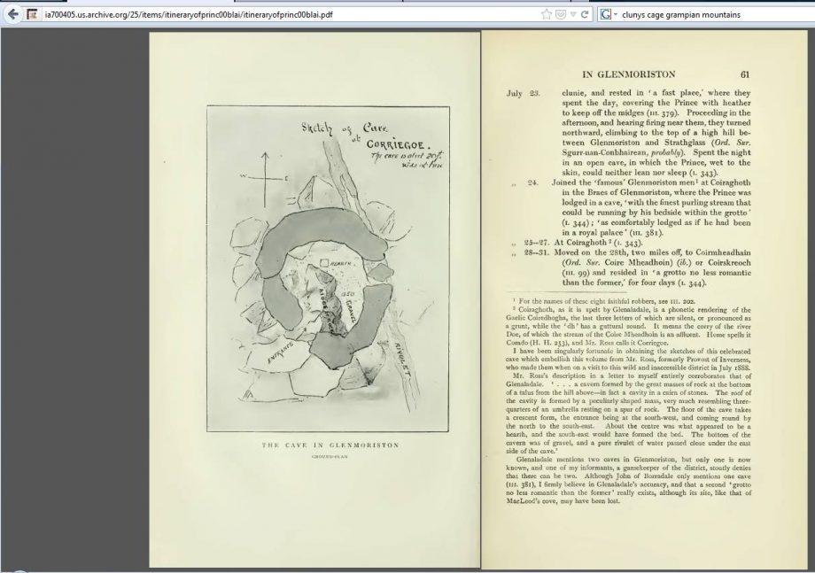 "Seiten aus dem Buch ""Itinerary of Charles Edward Stuart"""