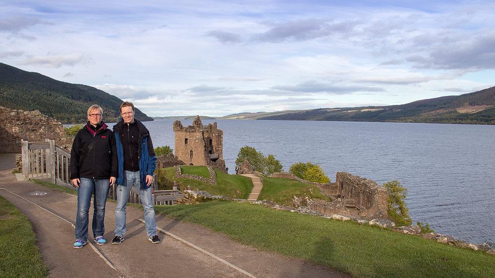 Katrin und Stephan auf Urquhart Castle