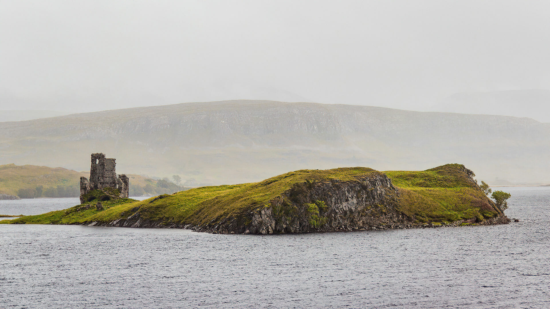 Ardvreck Castle im Loch Assynt