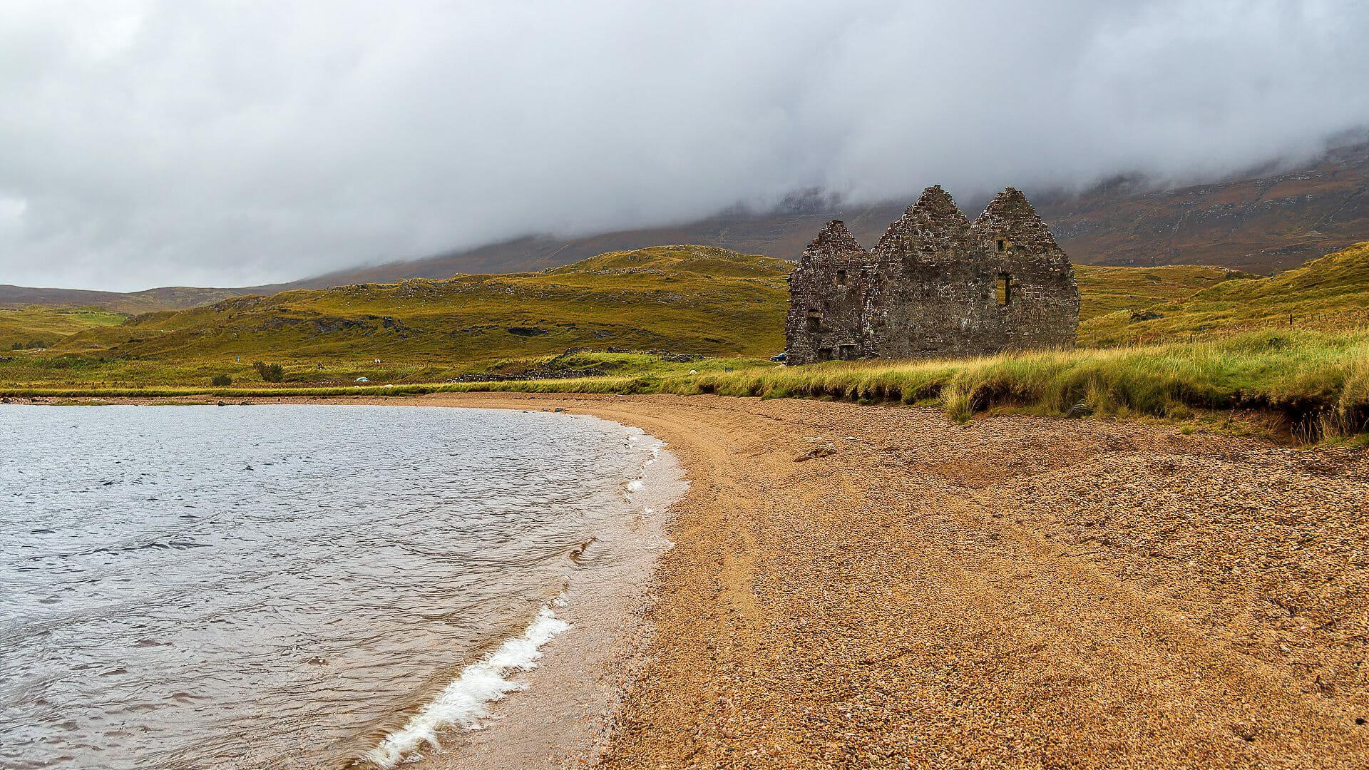 Calda House und Loch Assynt