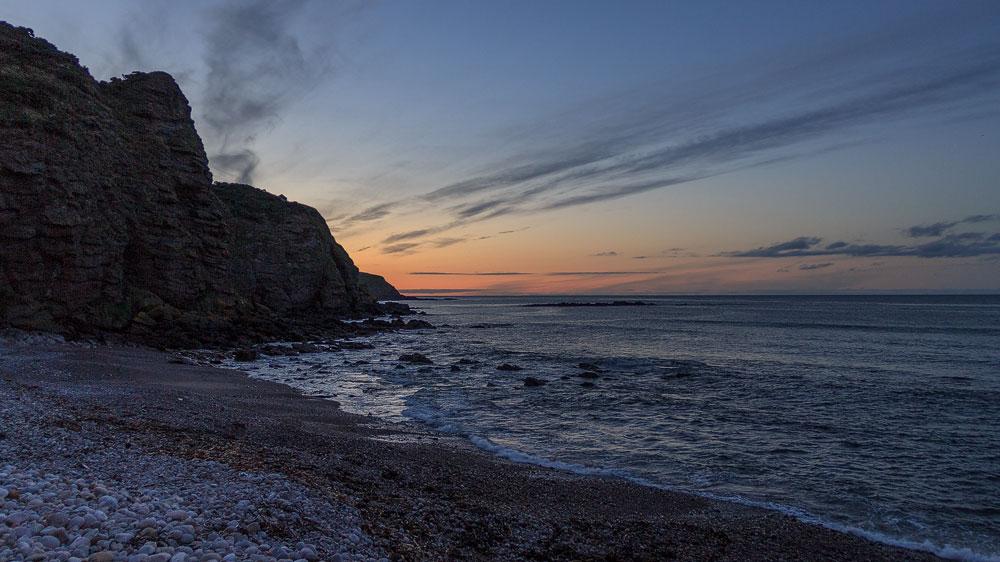 Sonnenuntergang von Pennan aus