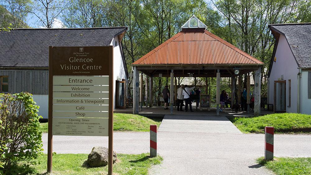 Glencoe Visitor Centre Eingang