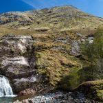 Glen Coe Wasserfall und Berge