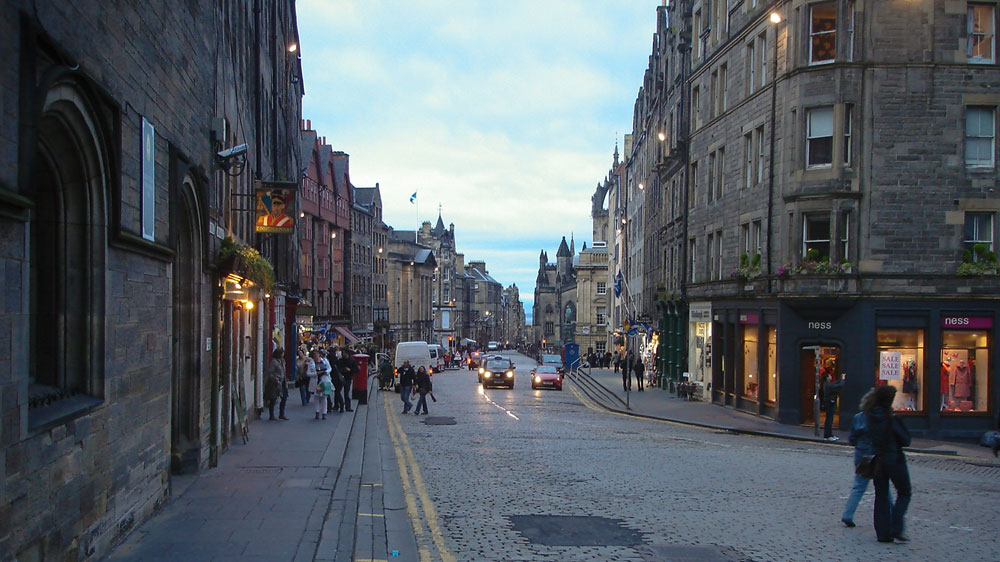 Straße in Edinburgh