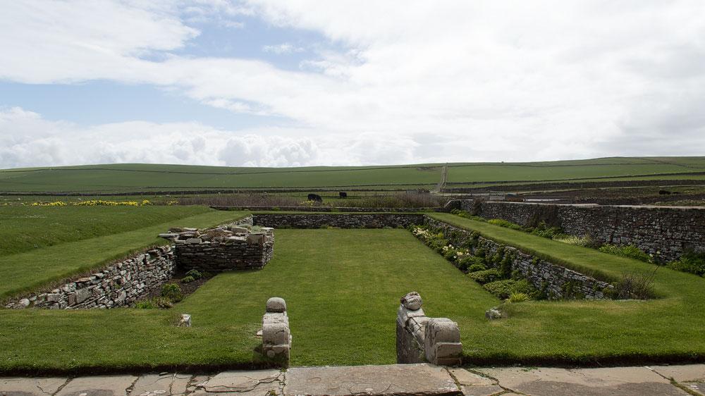 Skaill House gemauerter Garten