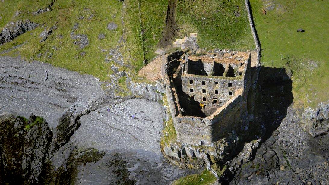 Mingary Castle aus der Luft