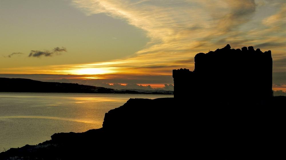 Mingary Castle im Sonnenuntergang – Foto: Jon Haylet, Mingary Castle Preservation and Restoration Trus