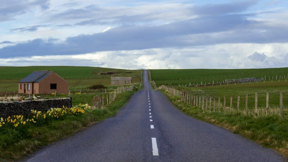Straße auf Orkney