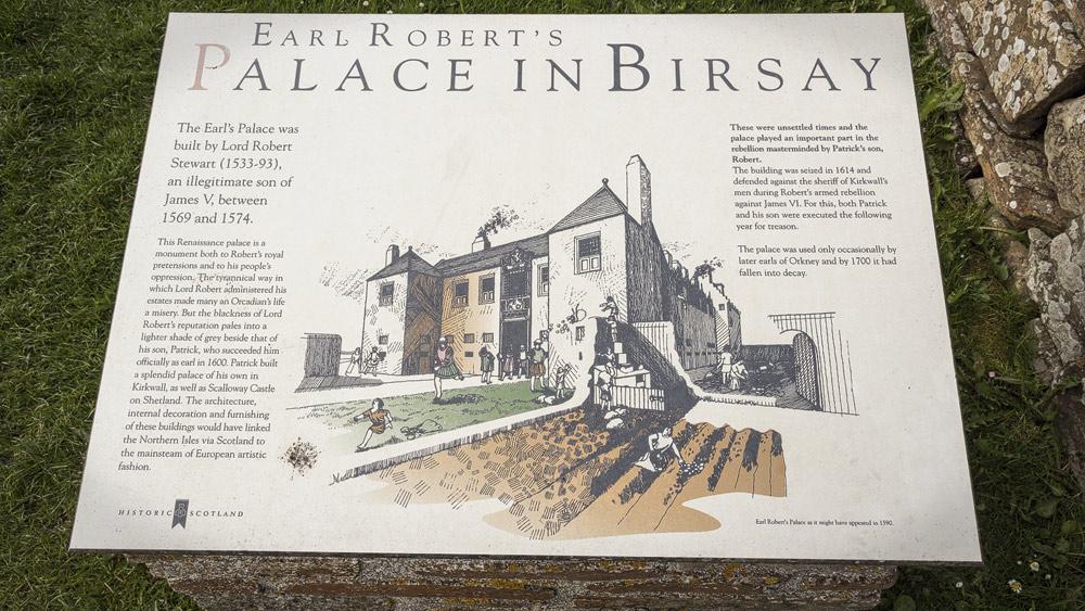 Earls Palace Birsay Tafel