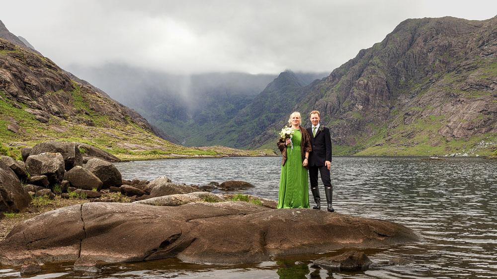 Katrin und ich bei unserer Hochzeit in Schottland