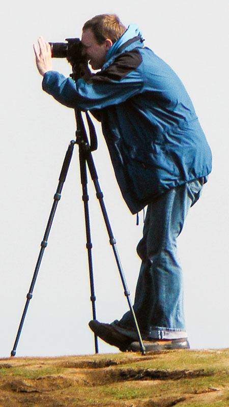 Stephan beim Fotografieren