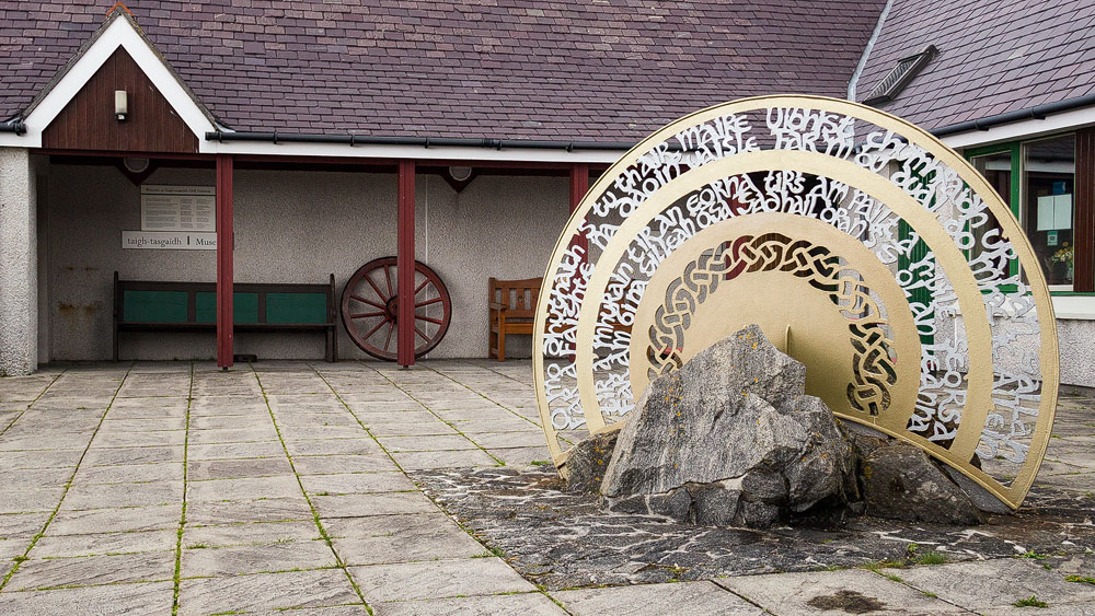 Kildonan-Museum-Inschrift