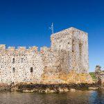 Kisimul Castle Außenansicht vom Boot