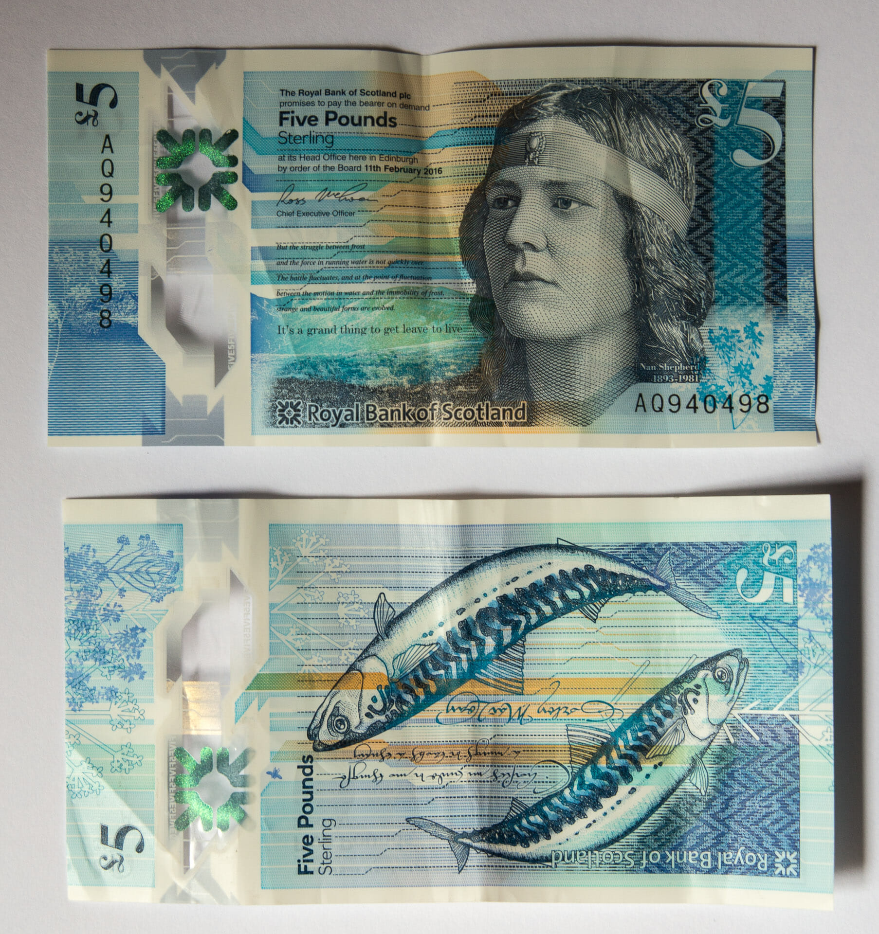 Neue Five-Pound-Note der Royal Bank of Scotland