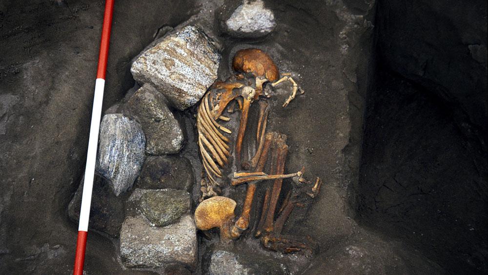 Cladh Hallan Mumien-Überreste auf South Uist