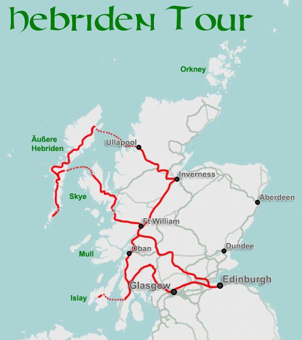 Routenvorschlag Hebriden Tour