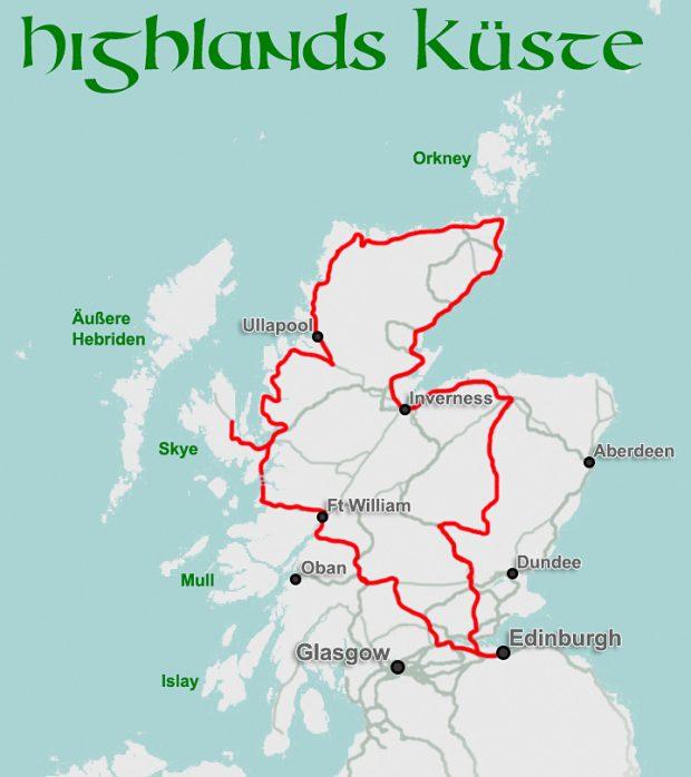 """Routenvorschlag """"Küste"""""""
