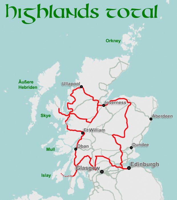 """Routenvorschlag """"Highlands total"""""""