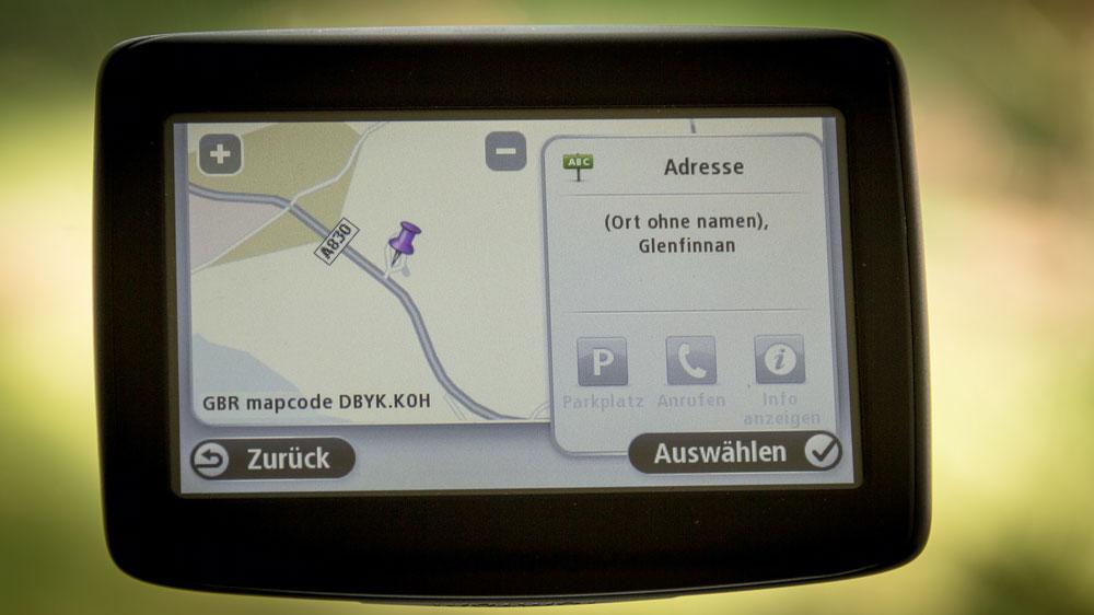 Mapcode auf Karte