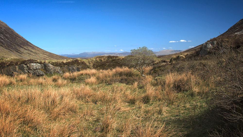 Blick vom Talausgang Glen Coe nach Rannoch