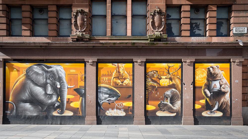 Wandgemälde Argyle Street