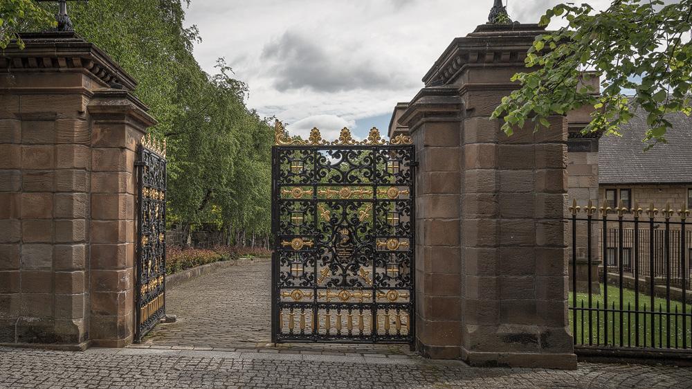 Tor zur Necropolis Glasgow