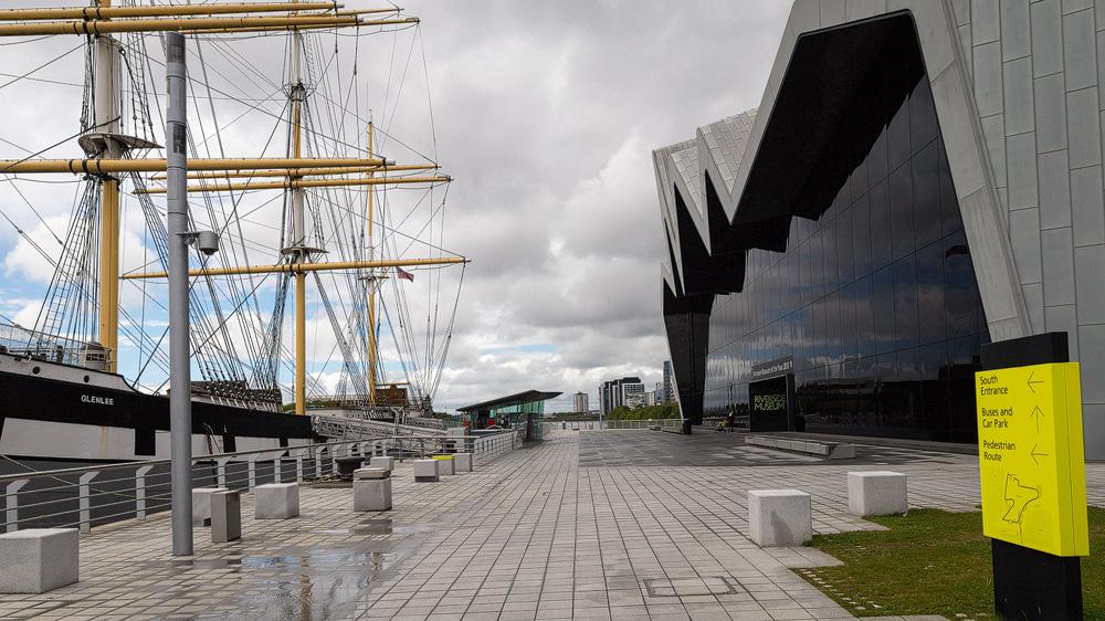 Riverside Museum und die Glenlee