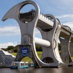 Falkirk-Wheel-Boot-Ausfahrt
