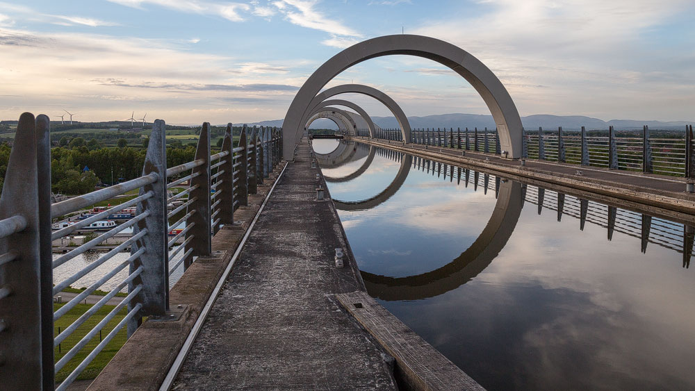 Auf dem Aquädukt