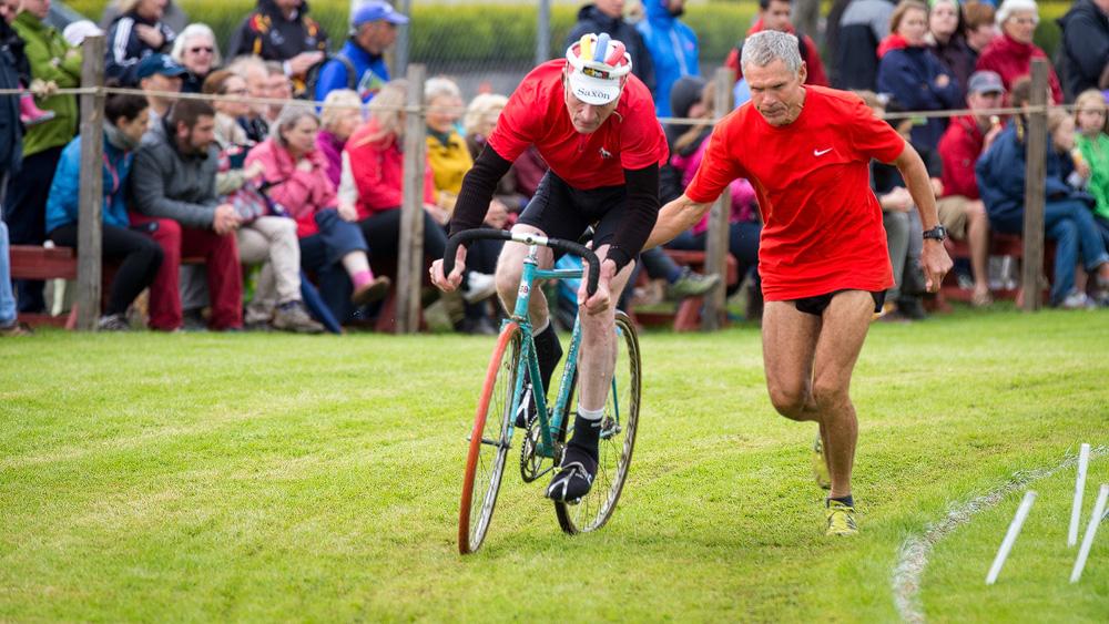 Anschieben beim Radrennen