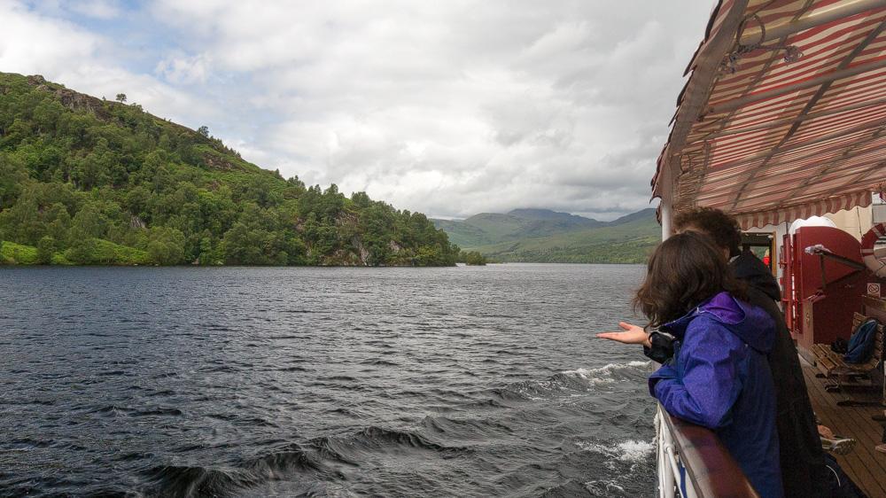 Ausblick auf Loch Katrine