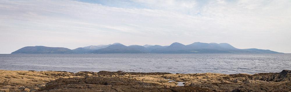 Isle of Arran von Kintyre aus