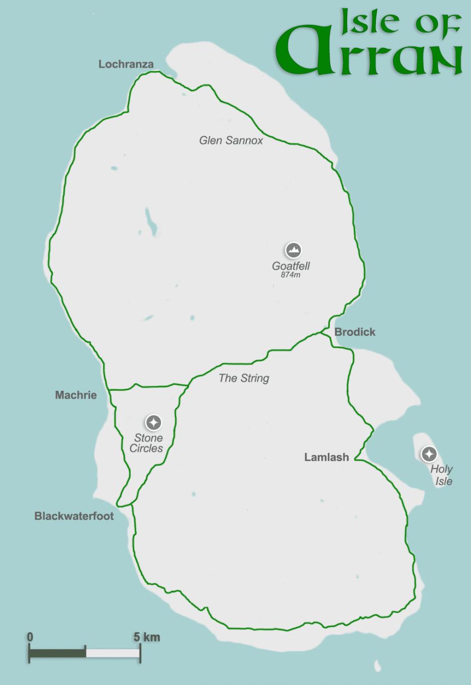 Karte Arran groß