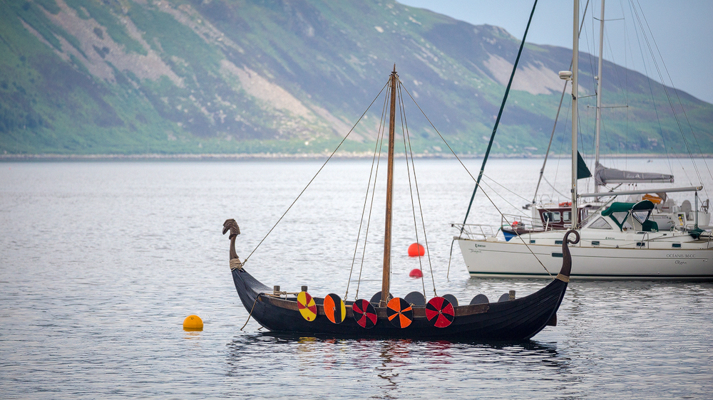 Wikinger-Boot in der Lamlash Bay