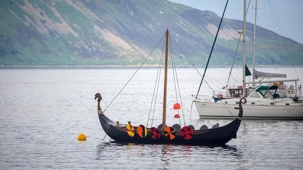 Wikinger-Boot in der Lamlash Bay